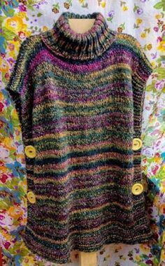 Knit Vest Pattern, Knitting Patterns, Crochet Patterns, Creative Knitting, Easy Knitting, Poncho Pullover, Crochet Poncho, Bolero Crochet, Lace Bolero