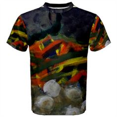 All appleartcom's products are from the original paintings of the artist/designer Jocelyn Apple. Kindly see: (www.facebook.com/appleartcom)    (www.cowcow.com/appleartcom). La Tristesse Appleartcom Men's Cotton Tee by Jocelyn Apple/Appleartcom. Walk in style with uniquely designed t-shirt just for you!