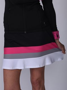 "Multi Color Golftini Ladies 18"" Triple Threat Pull On Tech Golf Skort! Find the best golf outfits at #lorisgolfshoppe"