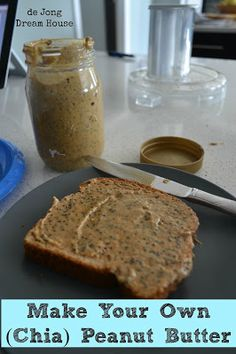 New & Improved Chia Peanut Butter Recipe. Excellent. Just peanuts and chia seeds. Also did almonds and chia seeds.