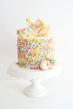 The Busy Spatula | Lucky Charms Cake - George's dream birthday cake...