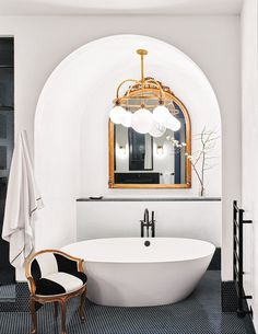 White walls, gold, black  -  Think for office