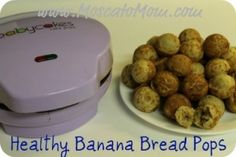 Since I received a cake pop maker as an early present, I have to find healthy recipes. Gonna try this one tomorrow - Healthy Banana Bread Pops Donut Maker Recipes, Babycakes Recipes, Babycakes Cake Pop Maker, Baby Cake Pops, Banana Bread Cake, Healthy Banana Bread, Baby Cakes Maker, Healthy Cake Pops, Baby Food Recipes