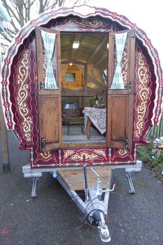 I am dreaming of a Greg Mort gypsy bow top caravan.  Sweet, quaint, cozy and ready for a travel adventure.