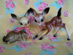 Vintage Bambi Style Deer Figurines