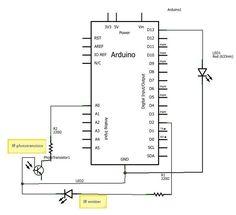Radio Shack IR emitter/detector pair test