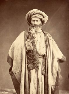 Arab Man Smoking Pipe  Félix Bonfils