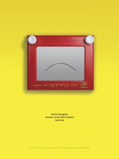 Etch a Sketch: Andre Cassagnes 1926-2013 | #ads #marketing #creative #werbung #print #poster #advertising #campaign < found on www.adsoftheworld.com pinned by www.BlickeDeeler.de | Follow us on www.facebook.com/blickedeeler
