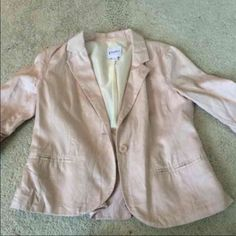 Candies Blush Blazer Size large blush blazer with Ruffles on the back Candie's Jackets & Coats Blazers