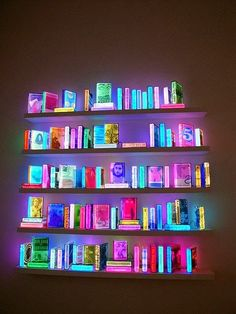 Creative Neon, Lighting, Books, Fluorescent, and Library image ideas & inspiration on Designspiration Collage Des Photos, Neon Licht, Neon Aesthetic, Neon Lighting, Lighting Ideas, Installation Art, Glow, Cool Stuff, Decoration