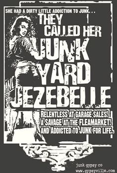 admit it. you're a JuNKyaRD jezebelle. say it loud and say it proud. admit it. you're a JuNKyaRD jezebelle. say it loud and say it proud. Funny Thoughts, Deep Thoughts, Gypsy Soul, Gypsy Life, Queen, Fleas, Funny Posts, Inspire Me, Thrifting