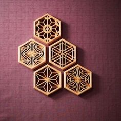 bCd - These are all the different shapes the Japanese use to create screens. Not a single nail is used and all hand made. Laser Cut Patterns, Tile Patterns, Japanese Interior, Japanese Design, Chip Carving, Woodworking Inspiration, Japanese Woodworking, 3d Laser, Oriental Pattern