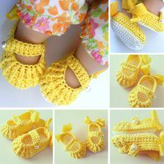 Crochet Baby Shoes - Free Pattern