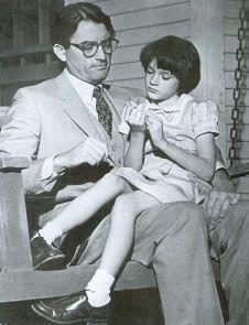 me encantan Atticus y Scout en esta escena