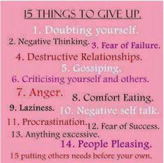 Things to give up!