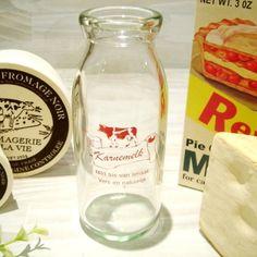 Glass Bottles 即決 アンティーク風ガラス製ミルクボトル牛乳瓶インテリアB 雑貨 家具 Antique ¥480yen 〆06月22日