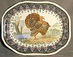 Vintage Thanksgiving Turkey platter. Be sure to visit my blog at http://cdiannezweig.blogspot.com/