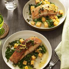 Seared Salmon with Sweet Potatoes Recipe - Good Housekeeping