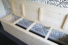 Patio storage - Different Ideas Patio Storage, Kids Storage, Bench With Storage, Furniture Projects, Home Projects, Diy Furniture, Relaxation Room, Kitchen Benches, Home Hacks