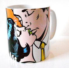 'Tosser' Proper London Mug. Love the Mad Men style with her thinking 'Tosser' on the other side