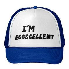 I'm Eggscellent Trucker Hat/I need 2 one for myself one for my daughter! Regular show baby! i guess i am eggcellent Regular Show, Funny Hats, Custom Hats, Cool Cartoons, Cartoon Network, To My Daughter, Baseball Hats, Geek Stuff, Moda Masculina