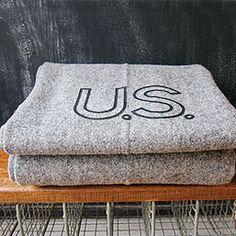 Faribault Woolen Mills Gray Military Blanket @ThreePotatoFour