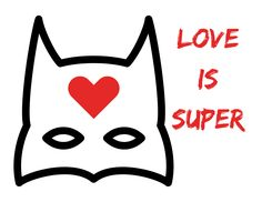Need a heart for your window for #aworldofhearts? Use our love is super! #TBITalk #communitylove #community #superhero