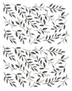 Inked Leaves | Urbanwalls