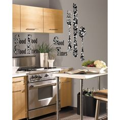 Good Times Silverware Giant Wall Decals  http://thetrendykitchen.com/item_299/Good-Times-Silverware-Giant-Wall-Decals.htm