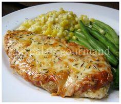 Le palais gourmand: Gratin de poulet au fromage