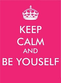 Keep Calm And Be Yourself! Pink