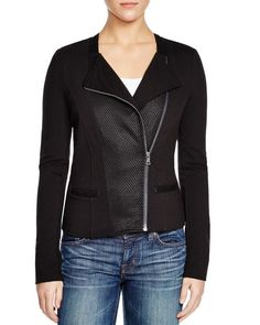 Three Dots Athena Mesh Inset Jacket