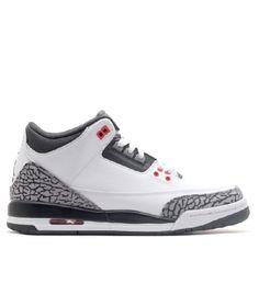 new product 8b0b0 f04b4 Air Jordan 3 Retro BG Gs White Black Wolf Grey Infrared