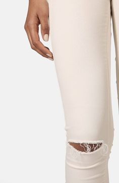 Topshop Moto 'Leigh' Ripped Mid Rise Skinny Jeans | Nordstrom