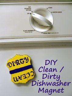 Smart n Snazzy: DIY ~ Dirty / Clean Dishwasher Magnet #SparklySavings #cbias #shop
