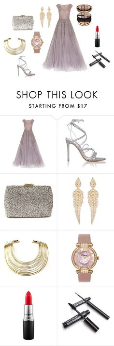 """Bez naslova #4"" by fatimka-becirovic ❤ liked on Polyvore featuring Georges Hobeika, Gianvito Rossi, Lulu*s, Stephen Webster, Bisjoux, Chopard, MAC Cosmetics and Giorgio Armani"
