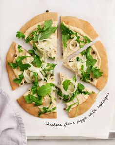 Chickpea Flour Pizza with Asparagus - Healthy, gluten free pizza from Chickpea Flour Does it All, by Lindsey Love