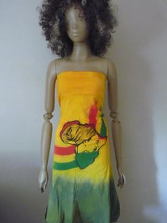 One love AFRICA strapless rasta dress with built in by Royalnatty, $68.00