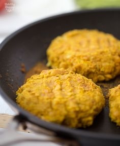 Easy Turmeric Bean Burgers with Spicy Secret Sauce + Melty Vegan Cheese.