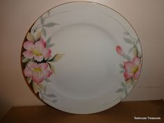 Noritake Azalea 19322 Two 2 Dinner Plates Red Mark