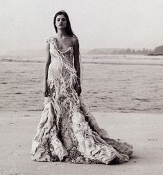 """Age of Innocence"" Natalia Vodianova by Peter Lindbergh for Harper's Bazaar 2003"