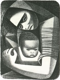 ELIZABETH CATLETT, MOTHER AND CHILD, 1944