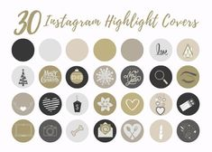 30 Instagram Story Highlight Icons Gold Monochromatic Icon | Etsy Insta Icon, Story Instagram, Instagram Highlight Icons, Story Highlights, Girl Boss, How To Draw Hands, Branding Ideas, Cover, Gold