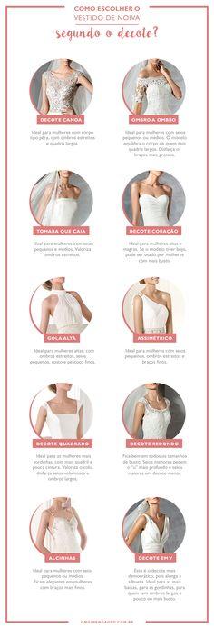 Como escolher o vestido de Noiva? Decote em V + mangas de renda + saia evasê ou princesa