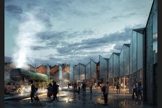 """Six designs are revealed for an heritage railway museum """"of national standing"""". Architecture Visualization, 3d Visualization, Landscape Architecture, Liverpool, Heritage Railway, Render Design, Railway Museum, Gardening Courses, 3d Artist"""