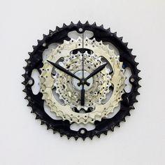 Bike Clock Bicycle Gear Clock Modern Clock by treadandpedals www.treadandpedals.etsy.com