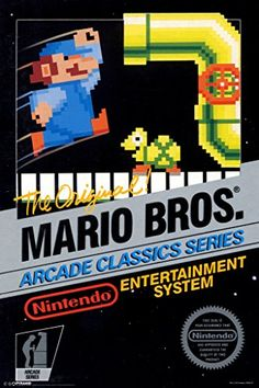 Mario Brothers Arcade Classic Series Nintendo NES Game Series Vintage Box Art Print Poster - 12x18 @ niftywarehouse.com