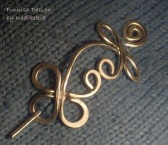 UNIQUE CELTIC Brooch Hair Pin or Shawl Pin For Scarf by Kedikekik, $15.00