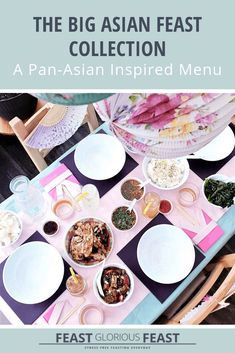 My Big Asian Feast Collection includes all the recipes needed to create and host a Big Asian Feast! It includes fab dishes inspired by China, Japan & Korea! Steamed Dumplings, Chinese Dumplings, Pork Dishes, Fish Dishes, Sweet Chilli Salmon, Dumpling Dipping Sauce, Teriyaki Tofu, Create A Cake, Steamed Cake