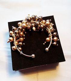 Swarovski pearl bangle